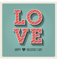 Happy Valentines day card i love you font type vector image