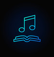 musical note with book blue icon vector image