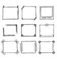 sketch of hand drawn frame set vector image