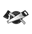 woodwork joinery carpentry logo or icon vector image