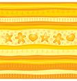 Yellow Christmas seamless background vector image
