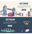 Visiting England and London Touristic Web Banners vector image
