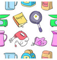 doodle of kitchen set colorful style vector image
