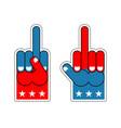 foam finger fuck usa patriotic sign symbol of vector image