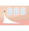 bride and wedding ceremony pray in church vector image