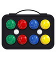 bocce ball in kit or case vector image