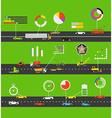 Transportation scheme vector image vector image