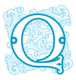 winter vintage letter Q vector image vector image