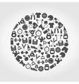 Sports a circle vector image vector image