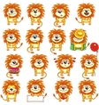 smiley lions vector image