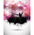 grunge party crowd background vector image
