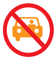 car not pass vector image vector image