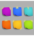 Colored post it notes vector image