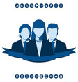 business team led by a woman vector image