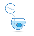 Fish talk vector image