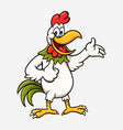 rooster cartoon character vector image