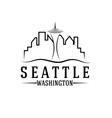 seattle skyline design template vector image