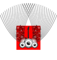 Speakers and guitar on beautiful shiny red vector image