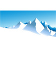winter white mountains vector image