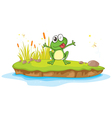 Happy Cartoon Frog vector image vector image