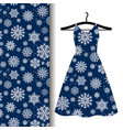 women dress fabric pattern with snowflakes vector image