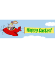 Bunny flying a plane with banner vector image