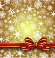 Christmas Snowflakes with Bow vector image vector image