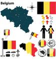 Belgium map vector image