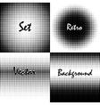 Retro background circles vector image