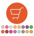 The shopping cart icon Shopping cart Flat vector image