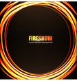 Fire show background vector image