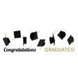 Graduation hat cap off vector image