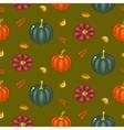 Autumn harvest seamless pattern vector image