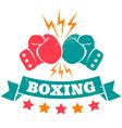 boxing retro vector image