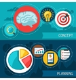 Business finance banners of concept and planning vector image