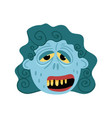 female zombie monster icon in cartoon style vector image