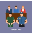 Law concept with jury trial vector image
