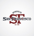 san francisco varsity theme vector image