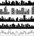 Set of city landscapes vector image