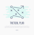 tactical planning icon for business management vector image