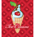 Fruit ice cream vector image
