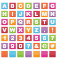 alphabet signs vector image vector image