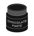 Chocolate paste icon in black style isolated on vector image