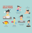 how to increase brain power infographic