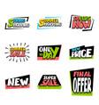 sale super big collection label price vector image