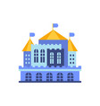 blue majestic palace building vector image vector image
