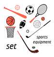 sports items set vector image