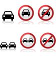 Car signs vector image