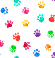 Watercolor with animal footprints vector image