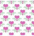 Watercolor seamless pattern with victorian heart vector image